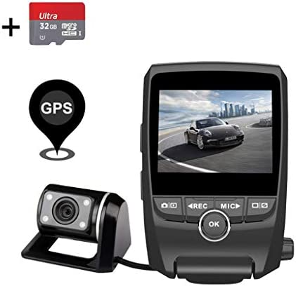 EACHPAI Dash Cam,Dashboard Camera Recorder with Full HD 1080P Front and Rear 170 Degree Wide Angle Super Capacitor Car Dash Cam,Motion Detection, G-Sensor, Loop Recording with 32GB SD Card