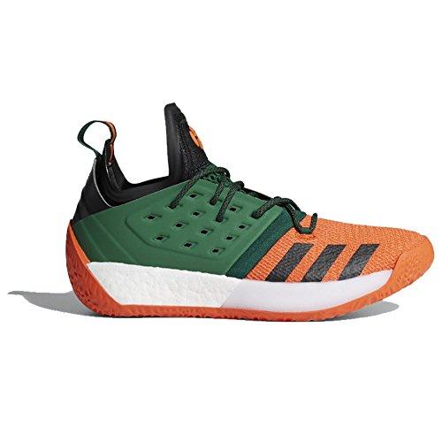 Adidas Harden Vol. 2 Scarpa Da Uomo Nucleo Da Basket Nero-collegiata Arancione