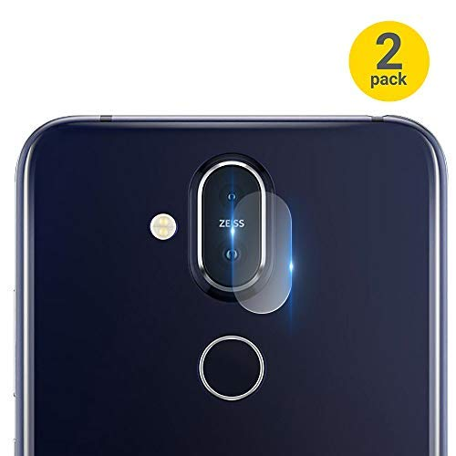 (Olixar Tempered Glass Camera Protectors Compatible with Nokia 8.1 - Phone Lens Protection - 2 Pack)