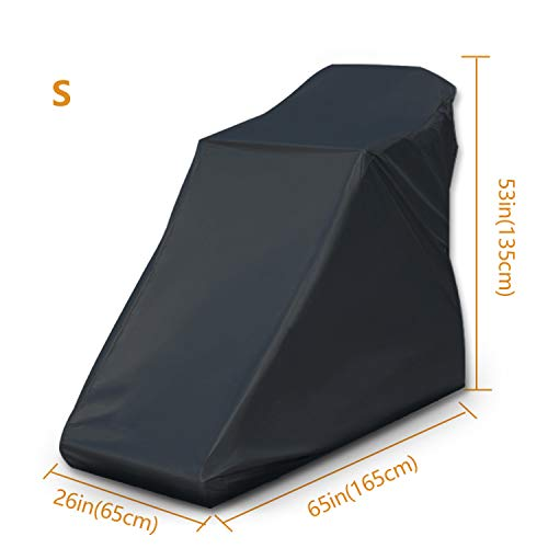 Non-Folding Treadmill Cover Waterproof - 2019 Upgraded Running Machine Protective Cover Dustproof Cover Heavy Duty and Water-Resistant Fitness Equipment Fabric Ideal for Indoor or Outdoor(Black)- S