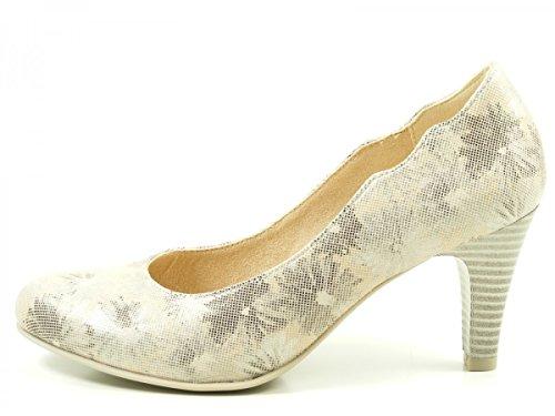 Caprice 22406, Zapatos de Tacón para Mujer Beige