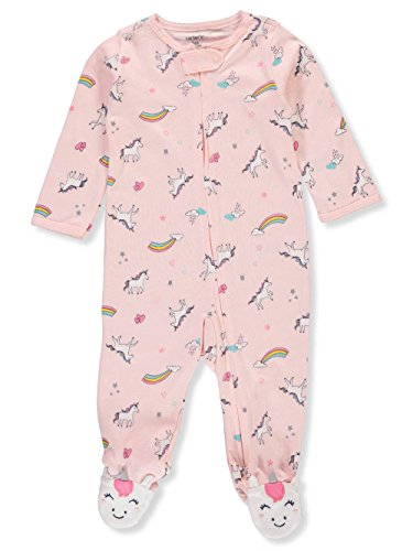 Carter's Baby Girls' Footie Sleep N Play (6 Months, Pink Unicorn) ()