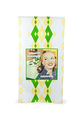 Anne Taintor Colorful Patterned Kitchen Dish or Bathroom Towel – Never Turn it On 41KZUMXlHlL