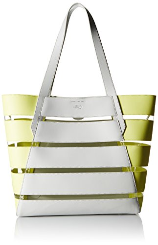 Vince Camuto Dayna Tote Top Handle Bag, Pale Gray/Golden Apple/Clear, One Size