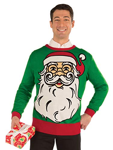 Forum Novelties Adult Santa Ugly Christmas Sweater, Multi, -