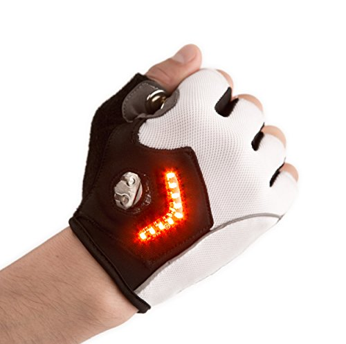 Zackees LED Turn Signal Bike lights in a cycling gloves, light up your bicycle ride with the best reviewed turn signals!