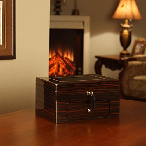 Nathan Direct Linden Lockable 20-Watch Watch Box with 1 Drawer, Mahogany