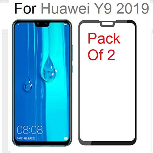 Magic Huawei Y9 2019 Tempered Glass 5D Screen Protector Pack of 2, 5D  Curved Screen Protector for Huawei Y9 2019 by Magic (Pack of 2)