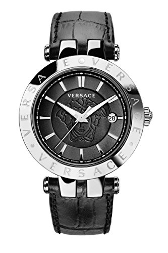 Versace Men's VQP020015 V-Race Analog Display Quartz Black Watch