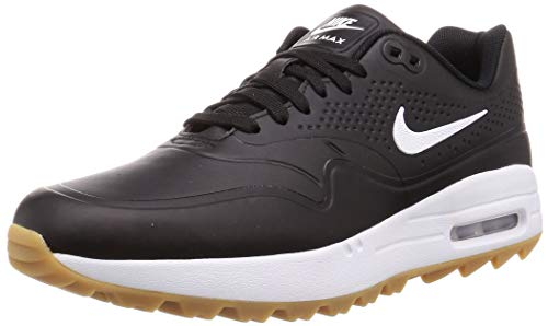 Nike Air Max 1 G Mens Golf Shoes AQ0863 Sneakers Trainers (UK 10.5 US 11.5 EU 45.5, Black White Gum Light Brown 001)