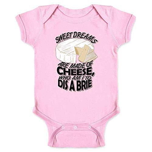 (Sweet Dreams are Made of Cheese. Pink 6M Infant Bodysuit)