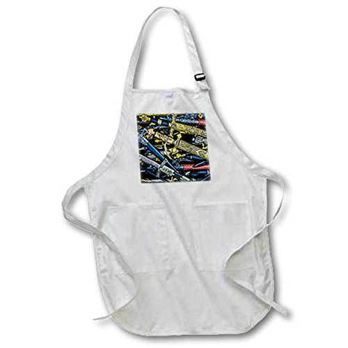 3dRose Alexis Photography - Objects Cold Steel - Cold steel - decorated arm blanche for warriors - Full Length Apron with Pockets 22w x 30l (apr_270856_1)