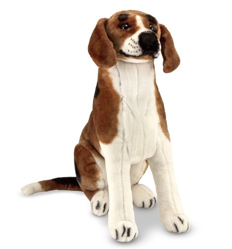 Used, Melissa & Doug Giant Beagle -  Lifelike Stuffed Animal for sale  Delivered anywhere in USA