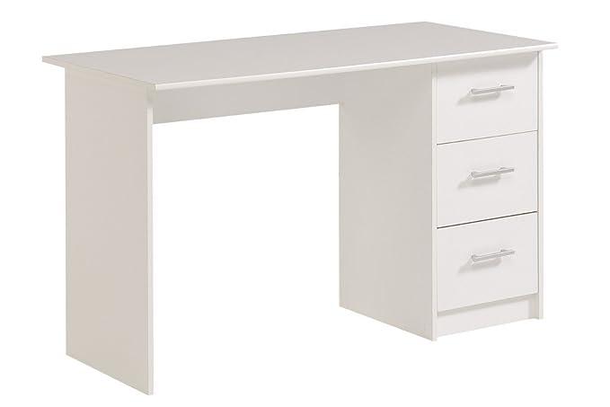 Parisot bure bureau tiroirs panneau de particules blanc