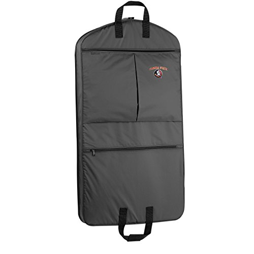 WallyBags Florida State Seminoles 40 Inch Suit Length Garment Bag with Pockets, Black, One Size