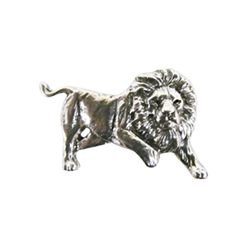 Lions Full Body (Creative Pewter Designs, Pewter Lion Full Body, Handcrafted Lapel Pin Brooch, Antique Finish, M102F)