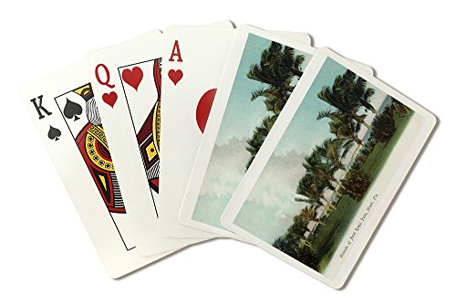 Miami, Florida - Hotel Royal Palm Grounds Scene (Playing Card Deck - 52 Card Poker Size with Jokers)