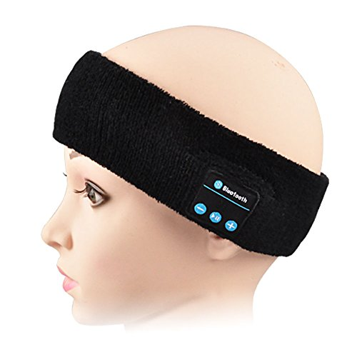 AL_bluetooth Outdoor Wireless Headband Earphone Headphone Headset Bluetooth V4.1/Hand Free Call/Siri/Fit for iPhone Samsung iPad Tablet Android (H601 Black)