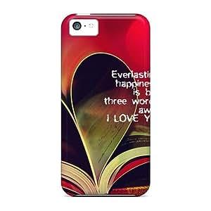 Cute Tpu GoldenArea I Love You Case Cover For Iphone 5c
