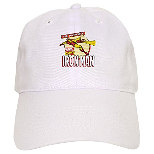 CafePress Iron Man Action - Baseball Cap with Adjustable Closure, Unique Printed Baseball - Hats Ironman