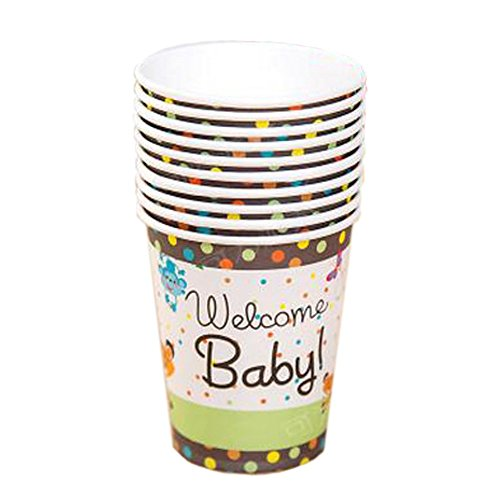 Lovely Animal Pattern Water Paper Cup Disposable Cup For Party 40 Count,No.1