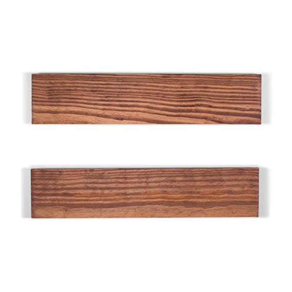 """DAKODA LOVE 5.25"""" Deep Routed Edge Floating Shelves, USA Handmade, Clear Coat Finish, 100% Countersunk Hidden Floating Shelf Brackets, Beautiful Grain Pine Wood Wall Decor (Set of 2) (24"""", Bourbon) - True floating shelves with routed edges. Sits flush against wall with 100% countersunk hidden brackets (includes all mounting hardware) Handcrafted with furniture grade dry kilned pine wood Hand wiped stain and clear coat finish - wall-shelves, living-room-furniture, living-room - 41KZZRp84XL. SS570  -"""