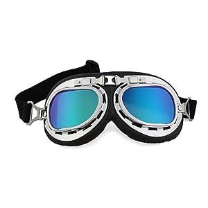 CARCHET® Lunettes Moto Cross Goggle Eyewear Glasses Lentilles Coloré Anti UV