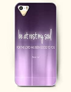 For SamSung Galaxy S4 Mini Phone Case Cover Hard with Design Be At Rest My Soul For The Lord Has Been Good To You Psalm 116:7 Daughters Of The King Daily Devotionals- Bible Verses - For SamSung Galaxy S4 Mini Phone Case Cover