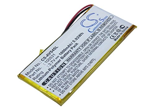 Replacement Battery for ARCHOS 43 Vision, 43 Vision EU, 43 Vision US Part NO 100531