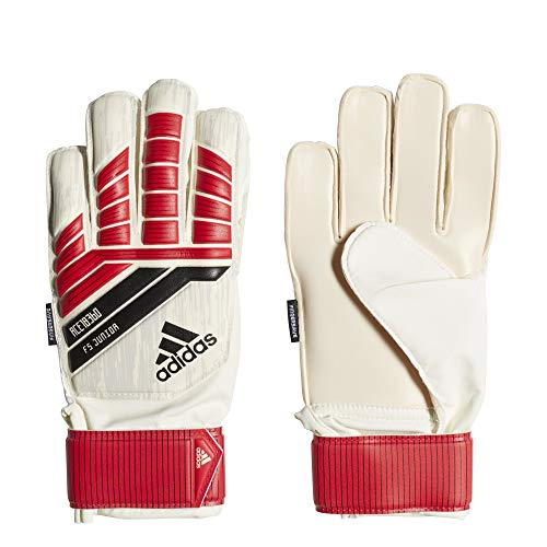 adidas ACE Fingersave Junior Goalie Gloves, Bright Red, Size 4 (Renewed)