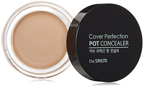 ([the SAEM] Color Perfection Pot Concealer 4g # Clear Beige - Instantly Adhering High Adherence & Coverage, Tight and Matte Fitting Long Lasting Balm Concealer)