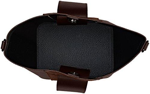 Chicca Borse 8886, Borsa a Spalla Donna, 31x26x16 cm (W x H x L) Marrone (Tmoro)