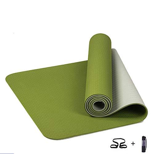 V TPE Yoga Mat 6Mm No-Slip Yoga Mat Fitness Gym Pilates Colchonete Pad Sport -