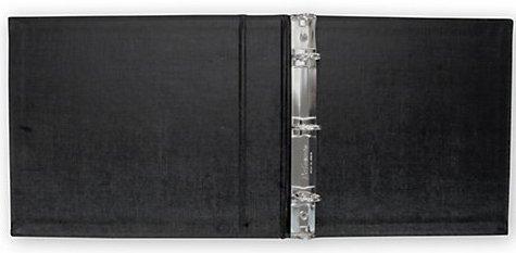 ABC Check Binder for End-Stub Deskbook, 3 Ring, 11 1/4 x 9, Black