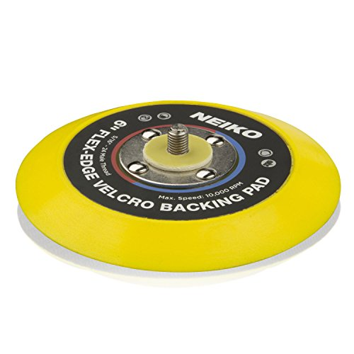 Neiko 30267A Flex-Edge Hook and Loop Backing Pad, 6-Inch | 10,000 RPM - Edge Pad