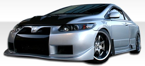 2006-2011 Honda Civic 2DR Duraflex GT500 Widebody Kit - Includes GT500 Widebody Front Bumper (105246), GT500 Widebody Rear Bumper (105247), GT500 Widebody Side Skirts (105689), GT500 Widebody Front Fenders (105248), and GT500 Widebody Rear Fender Flares (105249) - Duraflex Body Kits