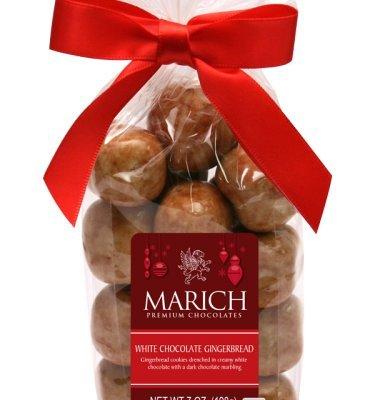 Marich Confectionery White Chocolate Gingerbread, 7 oz. (Gingerbread Candy)