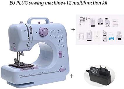 Yh-eu Mini máquina de coser eléctrica Fanghua 505 manual de coser ...