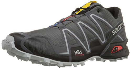 Salomon Men's Speedcross 3 Trail Running Shoe,Dark Cloud/Black/Light Onix,12 M US