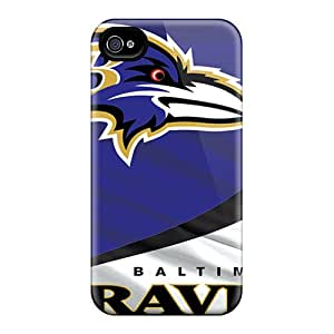 Excellent Hard Cell-phone Cases For Iphone 4/4s With Support Your Personal Customized Vivid Baltimore Ravens Pictures TimeaJoyce