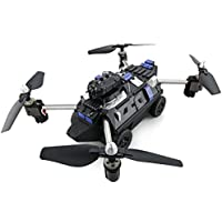 Owill JJRC H40WH With 720P HD Camera WIFI FPV Air Press Altitude Hold Quadcopter RC Flying Tank Car Design (Black)