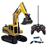 Nesee Full Functional Remote Control Heavy Metal Excavator Free Wheeler Die Cast Construction Toys