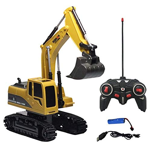 Euone  RC Car, Metal Diecast Excavator Construction Truck Toy Tractor, Heavy Metal Excavator Model Free Wheeler Die Cast Construction Toy 1:24 - Beach Stand Diecast