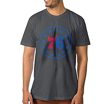 DETED Short Sleeve T-shirt - Philadelphia Basketball 76ers For Men's DeepHeather