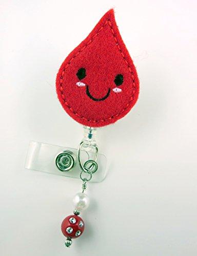 Cute Blood Drop - Nurse Badge Reel - Retractable ID Badge Holder - Nurse Badge - Badge Clip - Badge Reels - Pediatric - RN - Name Badge Holder
