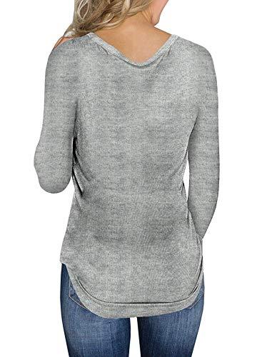 Casual Primavera Pullover shirts Donne Autunno Fox Fräulein Sweater V Scollo Lunga Sottile Maglioni Unita T Tinta Maglieria Manica Moda e Jumper OR65Rwxq