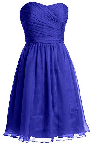 Royal Short Cocktail Party Wedding Gown Blue Strapless MACloth Dress Bridesmaid Women q71az1