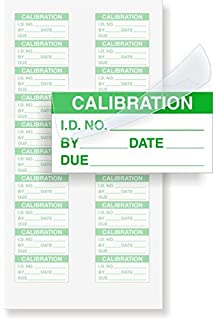 Calibration: ID#/By/Date/Due - Green, Polyester with Clear