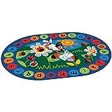 "Circletime Ladybug Kids Rug Rug Size: Oval 6'9"" x 9'5"""