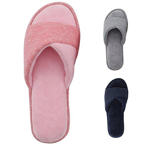 6d23e5c48a7d HomeIdeas Women s Open Toe Terry Anti-Slip House Slide Slipper ...